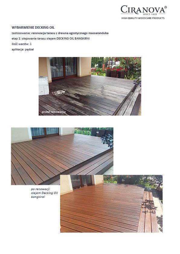 renowacja tarasu z drewna egzotycznego massaranduba